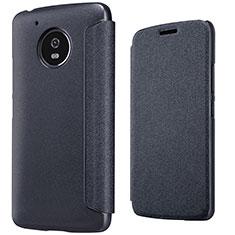 Motorola Moto G5用手帳型 レザーケース スタンド モトローラ ブラック