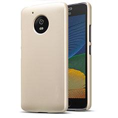 Motorola Moto G5用ハードケース プラスチック 質感もマット モトローラ ゴールド