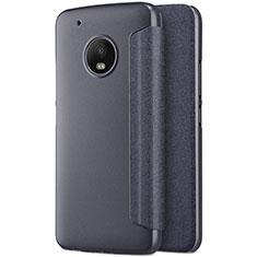 Motorola Moto G5 Plus用手帳型 レザーケース スタンド モトローラ ブラック