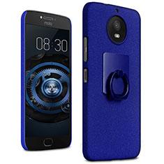 Motorola Moto G5S用ハードケース カバー プラスチック アンド指輪 モトローラ ネイビー