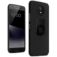 Motorola Moto G5S用ハードケース カバー プラスチック アンド指輪 モトローラ ブラック