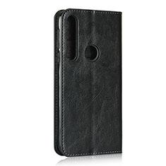 Motorola Moto G8 Play用手帳型 レザーケース スタンド カバー モトローラ ブラック