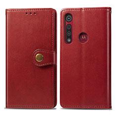 Motorola Moto G8 Play用手帳型 レザーケース スタンド カバー L02 モトローラ レッド