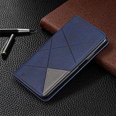 Motorola Moto G8 Plus用手帳型 レザーケース スタンド カバー L01 モトローラ ネイビー