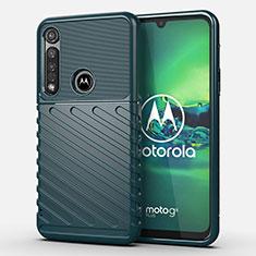 Motorola Moto G8 Plus用シリコンケース ソフトタッチラバー ツイル カバー S01 モトローラ グリーン
