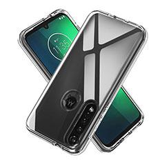 Motorola Moto G8 Plus用極薄ソフトケース シリコンケース 耐衝撃 全面保護 クリア透明 カバー モトローラ クリア
