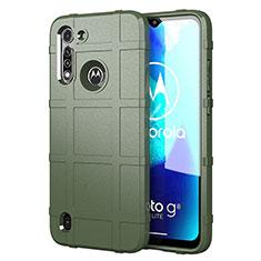 Motorola Moto G8 Power Lite用360度 フルカバー極薄ソフトケース シリコンケース 耐衝撃 全面保護 バンパー モトローラ グリーン