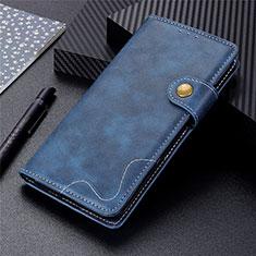 Motorola Moto G9 Plus用手帳型 レザーケース スタンド カバー モトローラ ネイビー