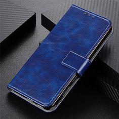 Motorola Moto G9 Plus用手帳型 レザーケース スタンド カバー L07 モトローラ ネイビー