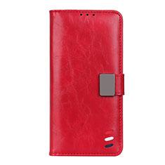 Motorola Moto G9 Plus用手帳型 レザーケース スタンド カバー L04 モトローラ レッド