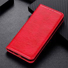 Motorola Moto G9 Plus用手帳型 レザーケース スタンド カバー L05 モトローラ レッド
