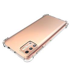 Motorola Moto G9 Plus用極薄ソフトケース シリコンケース 耐衝撃 全面保護 クリア透明 カバー モトローラ クリア