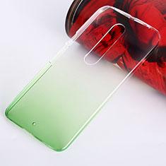 Motorola Moto X Style用ハードケース グラデーション 勾配色 クリア透明 モトローラ グリーン