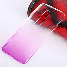 Motorola Moto X Style用ハードケース グラデーション 勾配色 クリア透明 モトローラ ピンク