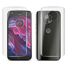 Motorola Moto X4用高光沢 液晶保護フィルム 背面保護フィルム同梱 モトローラ クリア