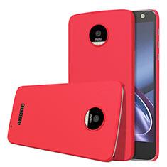 Motorola Moto Z用ハードケース プラスチック 質感もマット M01 モトローラ レッド