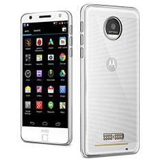 Motorola Moto Z用極薄ソフトケース シリコンケース 耐衝撃 全面保護 クリア透明 カバー モトローラ クリア
