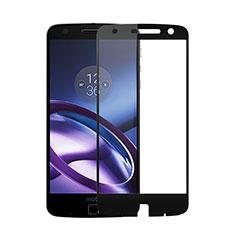 Motorola Moto Z用強化ガラス フル液晶保護フィルム モトローラ ブラック