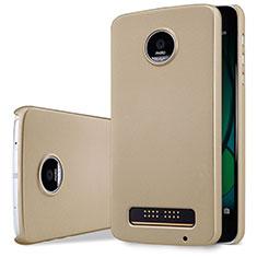 Motorola Moto Z Play用ハードケース プラスチック 質感もマット モトローラ ゴールド