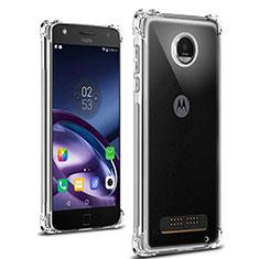 Motorola Moto Z Play用極薄ソフトケース シリコンケース 耐衝撃 全面保護 クリア透明 T02 モトローラ クリア