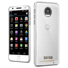 Motorola Moto Z Play用極薄ソフトケース シリコンケース 耐衝撃 全面保護 クリア透明 T03 モトローラ クリア