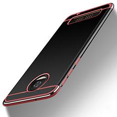 Motorola Moto Z Play用シリコンケース ソフトタッチラバー カバー モトローラ ピンク