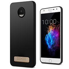 Motorola Moto Z Play用シリコンケース ソフトタッチラバー モトローラ ブラック