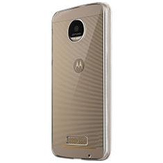 Motorola Moto Z Play用極薄ソフトケース シリコンケース 耐衝撃 全面保護 クリア透明 T05 モトローラ クリア