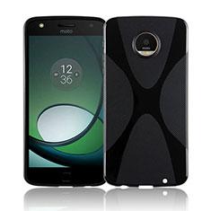 Motorola Moto Z Play用ソフトケース S ライン クリア透明 T01 モトローラ ブラック