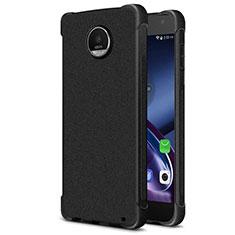 Motorola Moto Z2 Play用シリコンケース ソフトタッチラバー カバー モトローラ ブラック