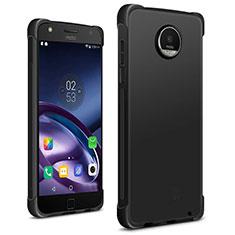 Motorola Moto Z2 Play用シリコンケース ソフトタッチラバー モトローラ ブラック