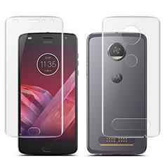 Motorola Moto Z2 Play用高光沢 液晶保護フィルム 背面保護フィルム同梱 モトローラ クリア