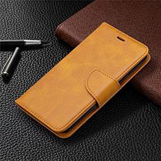 Nokia 1.3用手帳型 レザーケース スタンド カバー L04 ノキア オレンジ