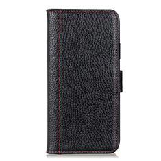 Nokia 1.3用手帳型 レザーケース スタンド カバー L08 ノキア ブラック