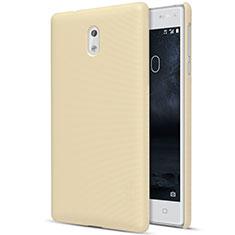 Nokia 3用ハードケース プラスチック 質感もマット ノキア ゴールド