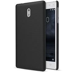 Nokia 3用ハードケース プラスチック 質感もマット ノキア ブラック
