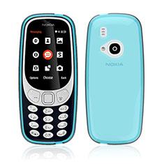 Nokia 3310 (2017)用極薄ソフトケース シリコンケース 耐衝撃 全面保護 クリア透明 ノキア ネイビー