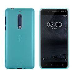 Nokia 5用極薄ソフトケース シリコンケース 耐衝撃 全面保護 クリア透明 ノキア ネイビー