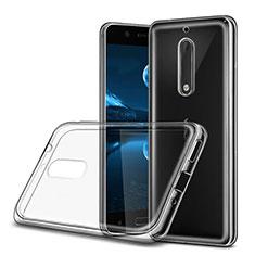 Nokia 5用極薄ソフトケース シリコンケース 耐衝撃 全面保護 クリア透明 ノキア クリア