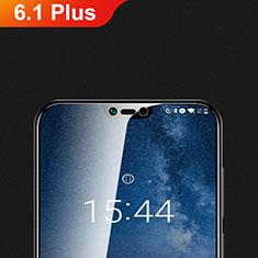 Nokia 6.1 Plus用強化ガラス 液晶保護フィルム T01 ノキア クリア