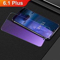 Nokia 6.1 Plus用アンチグレア ブルーライト 強化ガラス 液晶保護フィルム B01 ノキア クリア