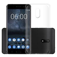 Nokia 6用極薄ソフトケース シリコンケース 耐衝撃 全面保護 クリア透明 カバー ノキア クリア
