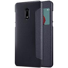 Nokia 6用手帳型 レザーケース スタンド ノキア ブラック