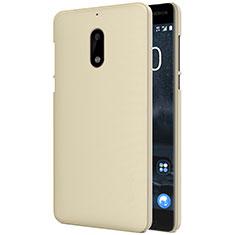 Nokia 6用ハードケース プラスチック 質感もマット R01 ノキア ゴールド