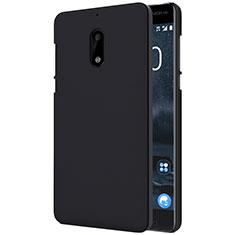 Nokia 6用ハードケース プラスチック 質感もマット R01 ノキア ブラック