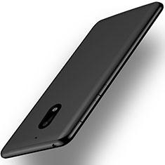 Nokia 6用極薄ソフトケース シリコンケース 耐衝撃 全面保護 ノキア ブラック