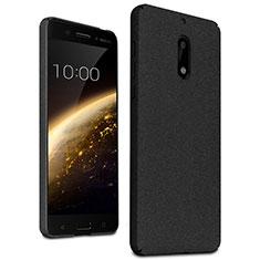 Nokia 6用ハードケース カバー プラスチック ノキア ブラック