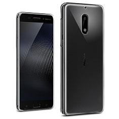Nokia 6用極薄ソフトケース シリコンケース 耐衝撃 全面保護 クリア透明 T02 ノキア クリア