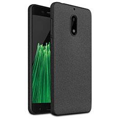 Nokia 6用シリコンケース ソフトタッチラバー カバー ノキア ブラック