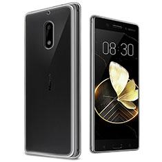 Nokia 6用極薄ソフトケース シリコンケース 耐衝撃 全面保護 クリア透明 T03 ノキア クリア